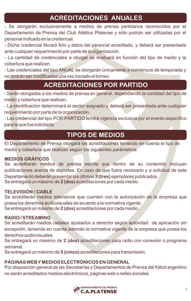 REGLAMENTO DE PRENSA C.A 2