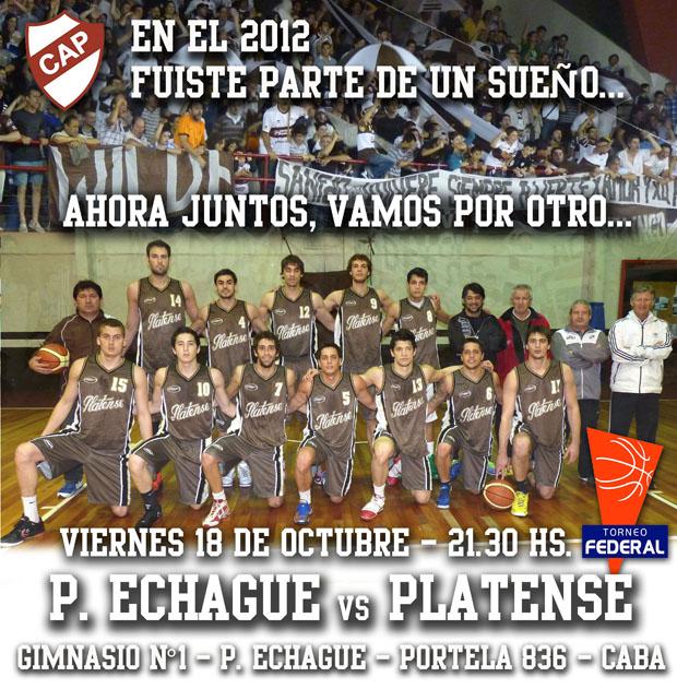 afiche Echague Platense
