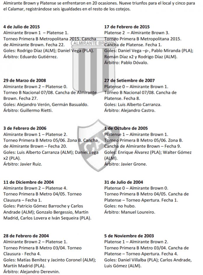 Hist AlmirantevsPlatense