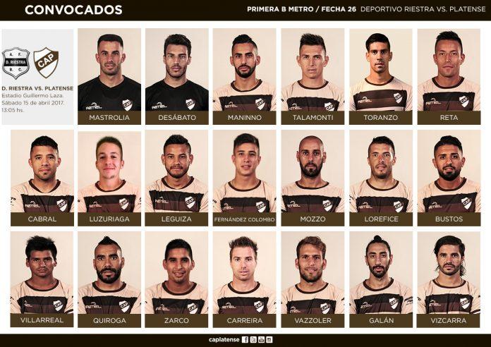 Convocados Deportivo Riestra vs Platense Fecha 26