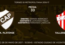 Placa anuncio Platense vs Talleres