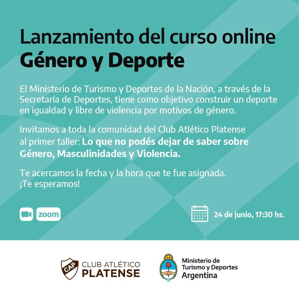 Lanzamiento Del Curso Online De Genero Y Deporte Club Atletico Platense